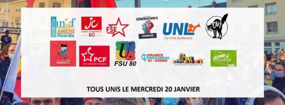 20 janvier, Amiens - Faisons entendre la voix des étudiants et étudiantes !