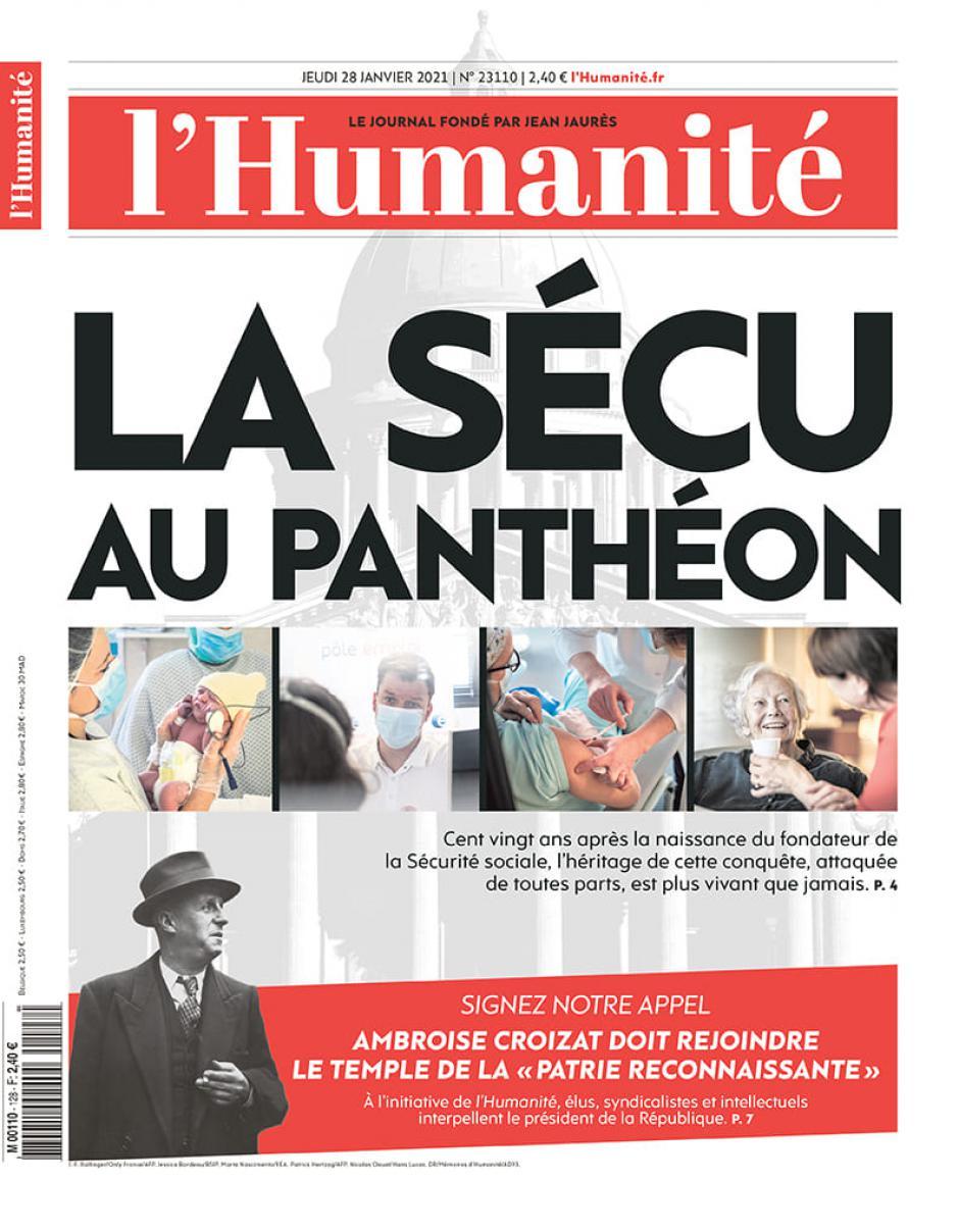 Pétition « Ambroise Croizat mérite d'entrer au Panthéon » - L'Humanité, 28 janvier 2021