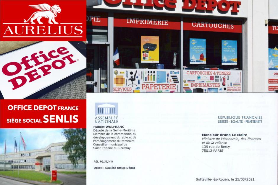 Contre le fonds vautour Aurelius, l'État doit s'engager pour la pérennisation des sites et des emplois d'Office Depot - Senlis, mars 2021