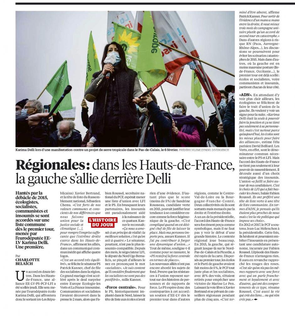 20210312-Libé-Hauts-de-France-R2021-La gauche s'allie derrière Delli