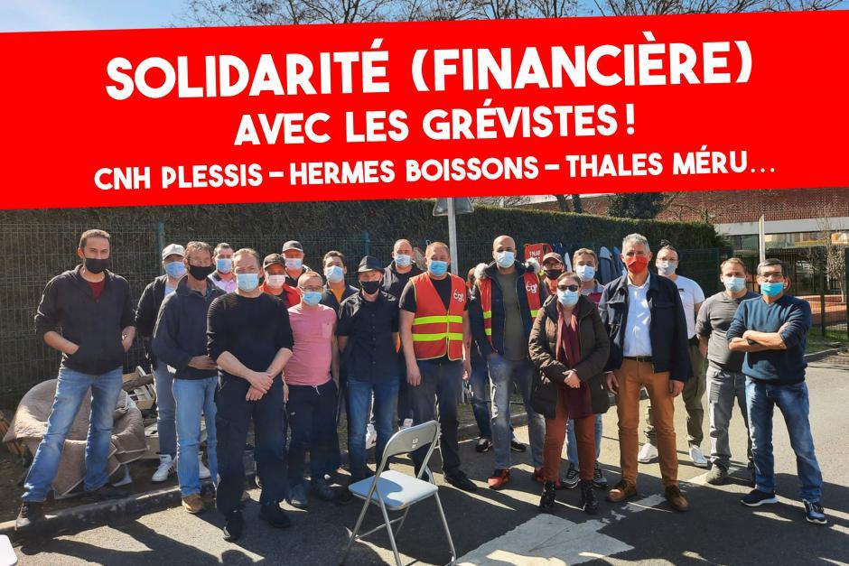 Je soutiens les grévistes : je verse aux caisses de grève !