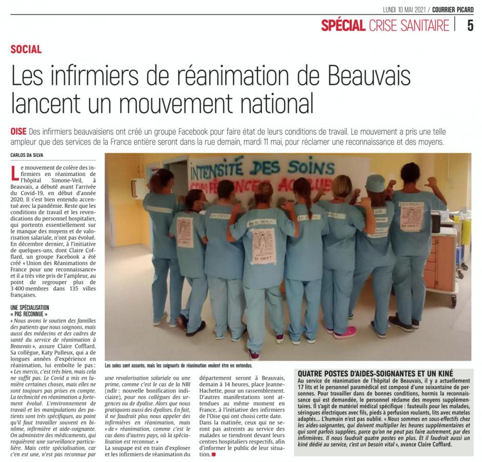 20210510-CP-Beauvais-Les infirmiers de réanimation de Beauvais lancent un mouvement national