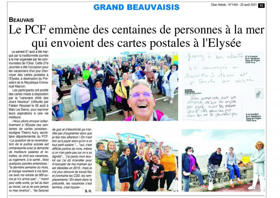 20210825-OH-Oise-Le PCF emmène des centaines de personnes à la mer qui envoient des cartes postales à l'Élysée