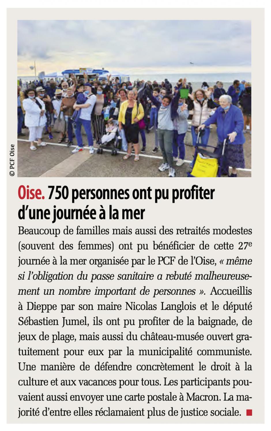 20210827-Liberté Hebdo-Oise-750 personnes ont pu profiter d'une journée à la mer
