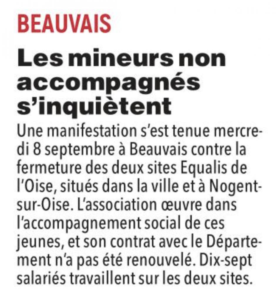 20210909-CP-Beauvais-Les mineurs non accompagnés s'inquiètent [pages régionales]