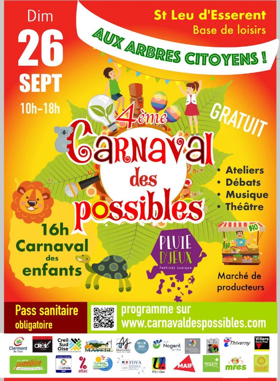 26 septembre, Saint-Leu-d'Esserent - 4e édition du Carnaval des Possibles
