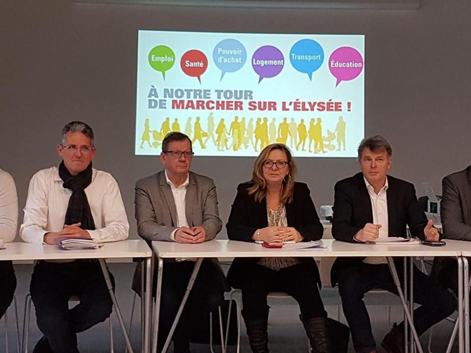 Lancement de la campagne régionale « À notre tour de marcher sur l'Élysée »