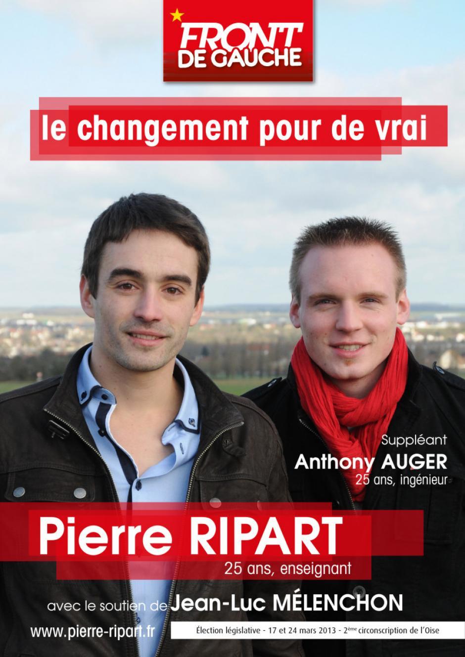 Affiche de campagne du Front de gauche - 2e circonscription, 15 février 2013