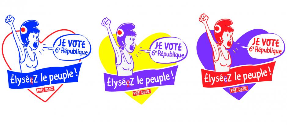 Visuel « Je vote 6e République - Élysez le peuple ! » - Marche du 18 mars 2017 à Paris pour une 6e République
