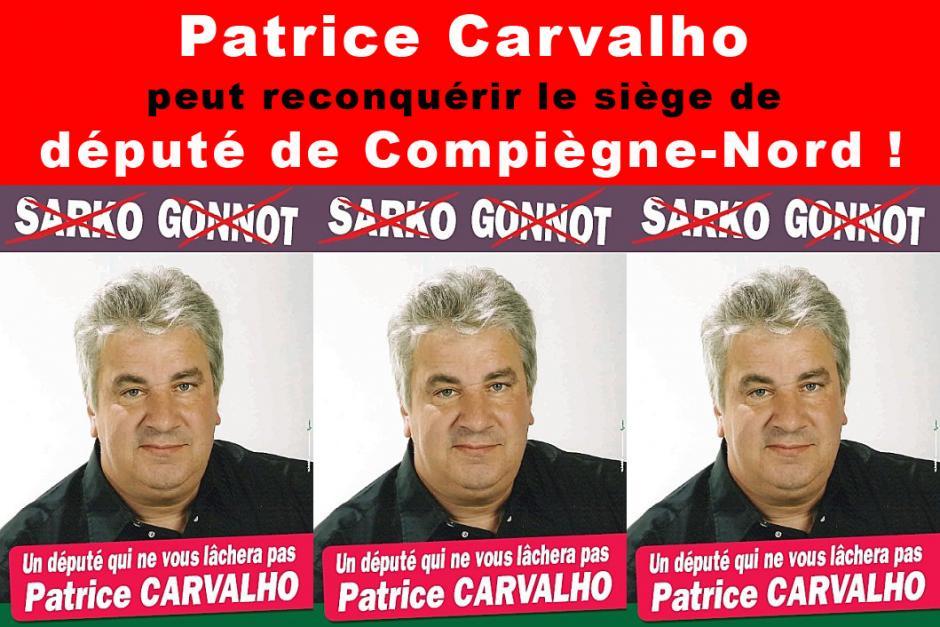 Patrice Carvalho peut reconquérir le siège de député de Compiègne-Nord - 10 juin 2012