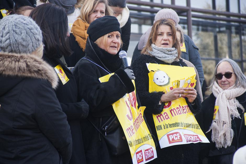« Non, non, non à la fermeture de la maternité ! »-Prise de parole des personnels - Creil, 24 février 2018