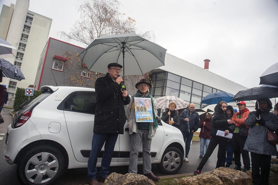 Manifestation pour le maintien de la maternité de Creil : intervention de Jean-Pierre Bosino - Creil, 1er décembre 2018