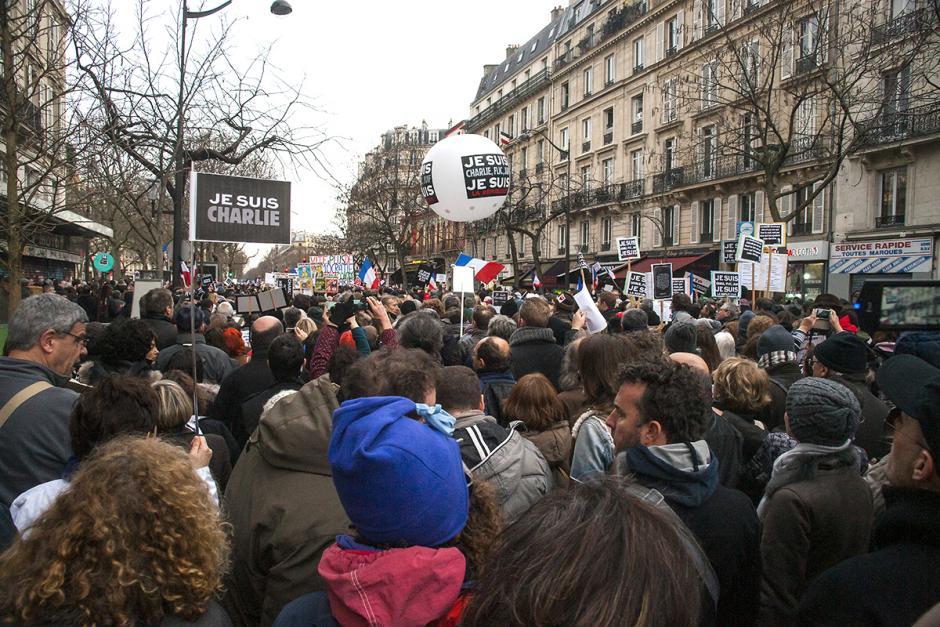 Contre la haine et pour la liberté, l'égalité, la fraternité, un peuple se lève - Paris, 11 janvier 2015