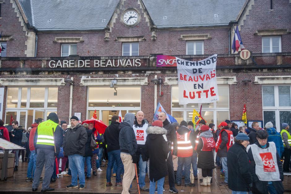 Retraites : retrait du projet Macron ! - Oise, 12 décembre 2019