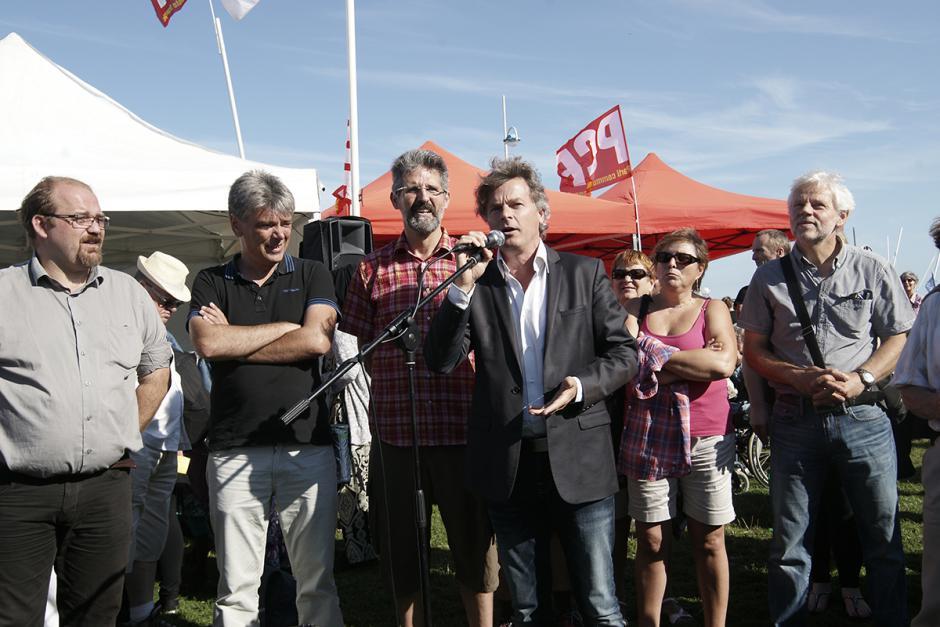 Fabien Roussel met «l'humain d'abord », avant la finance - Dieppe, 22 août 2015