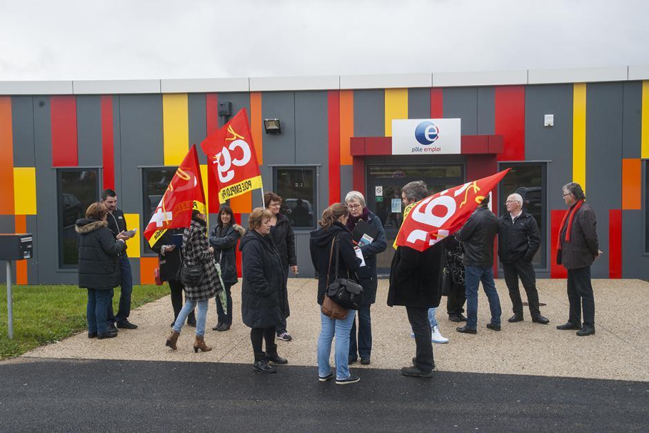 Non à la fermeture l'après-midi des agences Pôle emploi en Picardie - Clermont, 22 octobre 2015