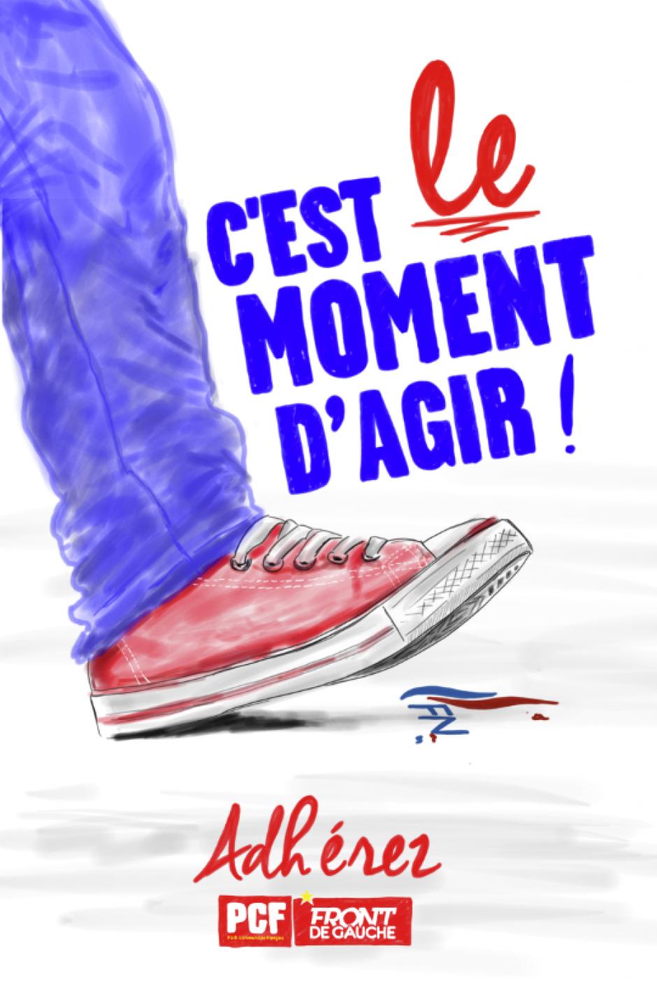 France 3 Picardie-JT 19-20-Oise-Battre Le Pen le 7 mai et combattre Macron dès le lendemain - 28 avril 2017