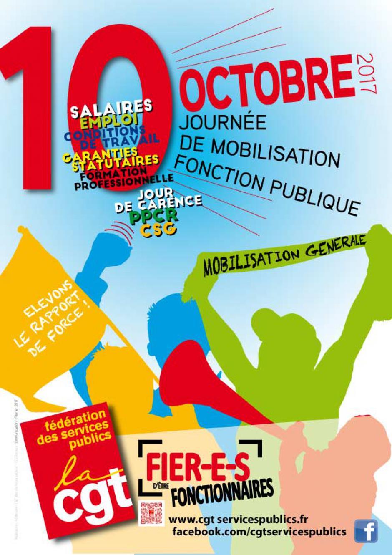 10 octobre, Oise - Journée nationale de mobilisation pour la Fonction publique