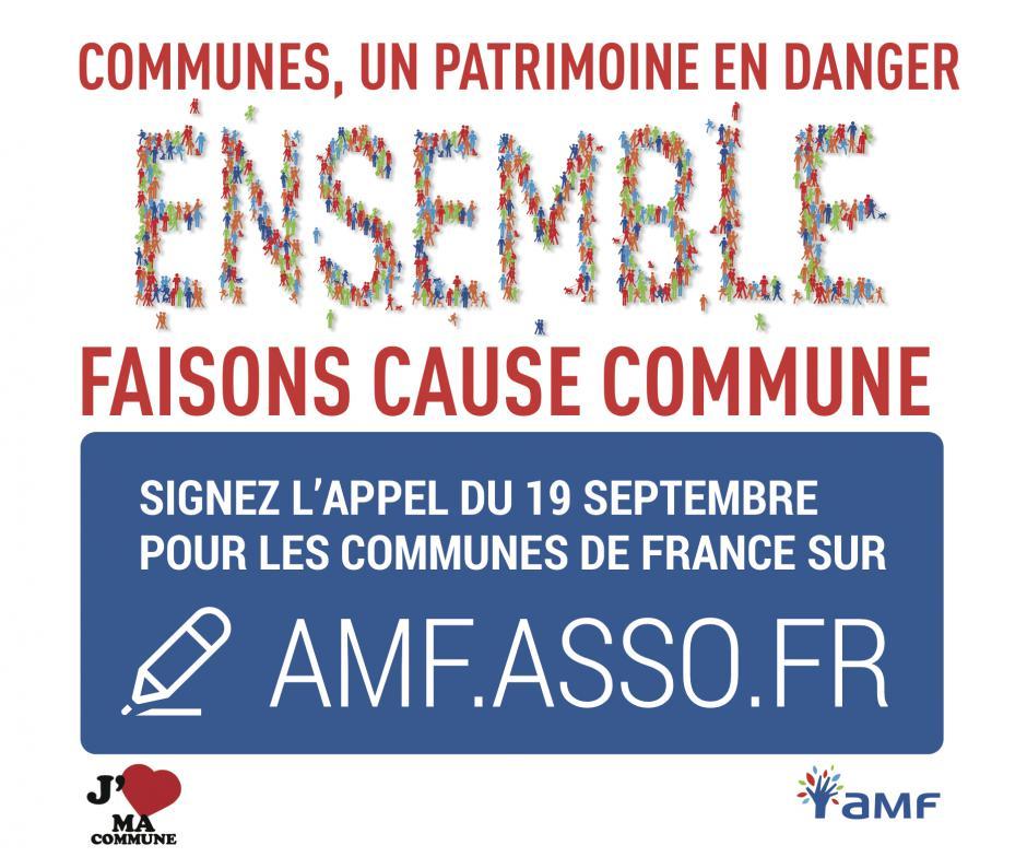 AMF : Appel pour toutes les communes de France « Communes, un patrimoine en danger »