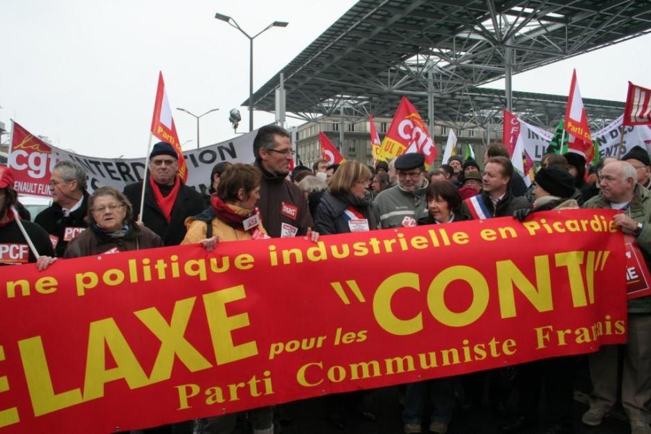 [20100113]-Rassemblement pour demander la relaxe des Conti - Amiens, 13 janvier 2010