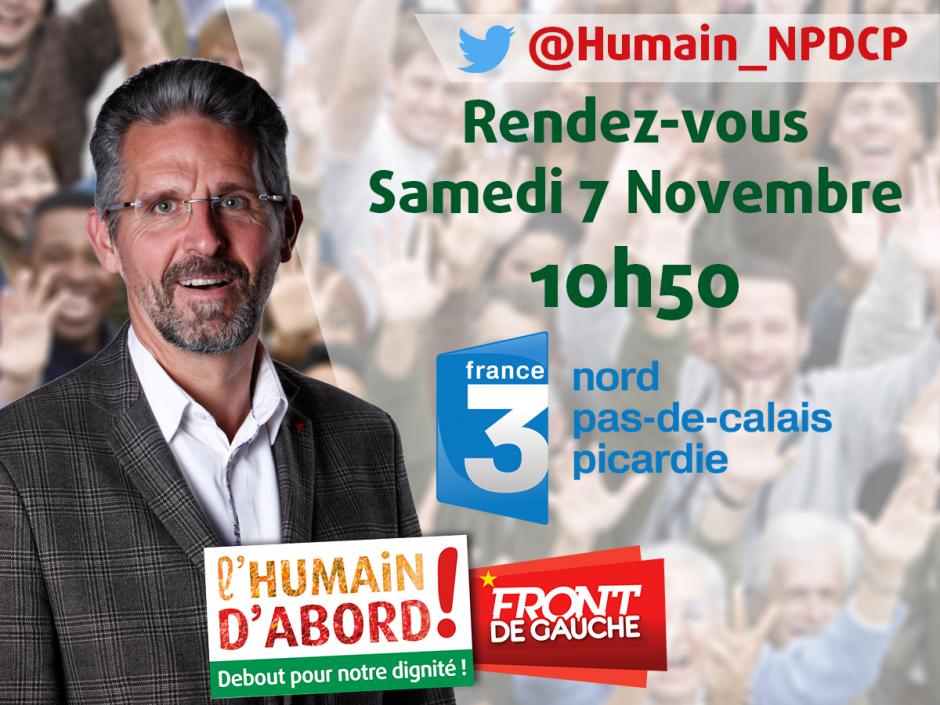 7 novembre, France 3 Picardie - Thierry Aury dans « La Voix est libre »