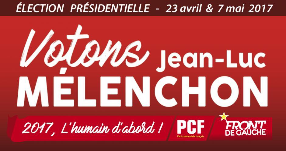 Présidentielle 2017 : le PCF appelle à voter pour Jean-Luc Mélenchon