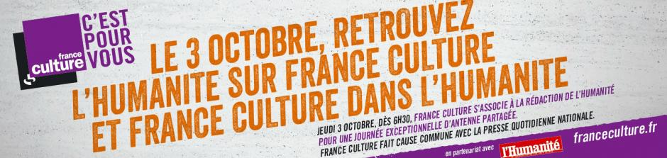 L'Huma sur France Culture - 3 octobre 2013