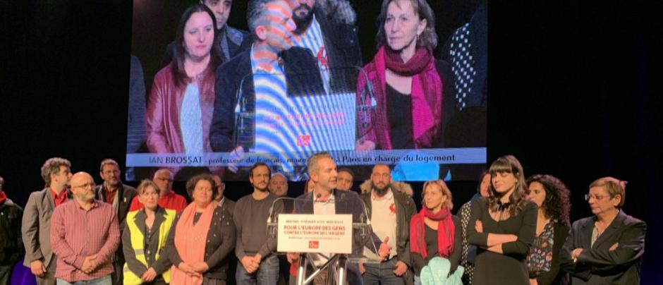 Meeting de présentation de la liste « Contre l'Europe de l'argent, pour l'Europe des gens » - Marseille, 5 février 2019