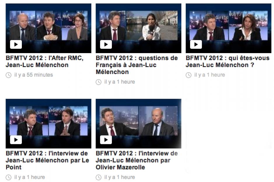 Jean-Luc Mélenchon - BFMTV 2012 - 18 mars 2012