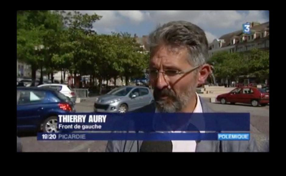 France 3 Picardie-JT 19-20-Beauvais-Réaction de Thierry Aury à la matinée « mairie morte » - 15 septembre 2014