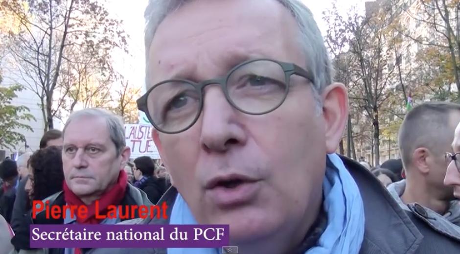 L'Humanité-Pierre Laurent « Cette manifestation est un nouveau départ de cet effort de lutte » - Paris, 15 novembre 2014