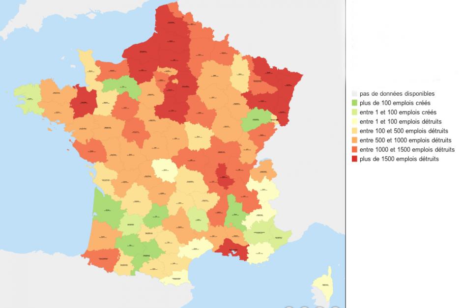 Désindustrialisation en France : l'Oise le département le plus touché