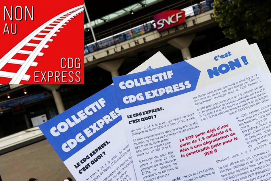 Stop CDG Express ! Oui aux transports en commun pour tous !