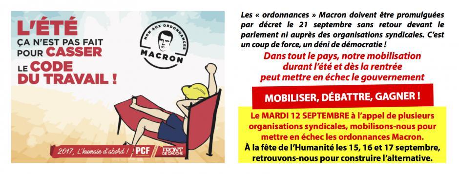 12 septembre, France - Journée d'action et de grève contre la réforme du code du travail