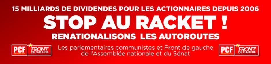 19 novembre, péage de l'A1 à Chamant - Campagne du PCF pour la renationalisation des autoroutes
