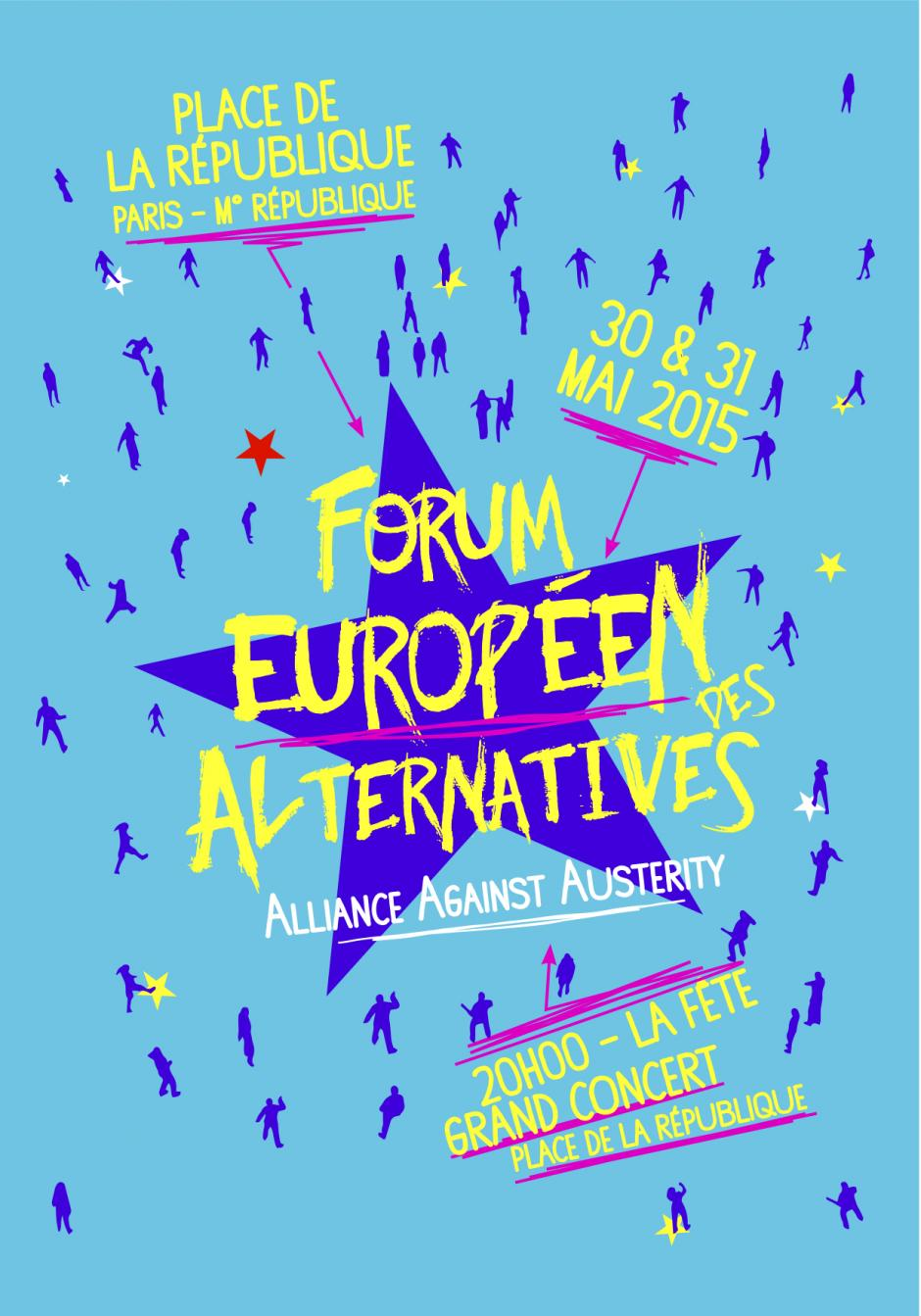 30 & 31 mai, Paris - Forum européen des alternatives-Alliance against austerity
