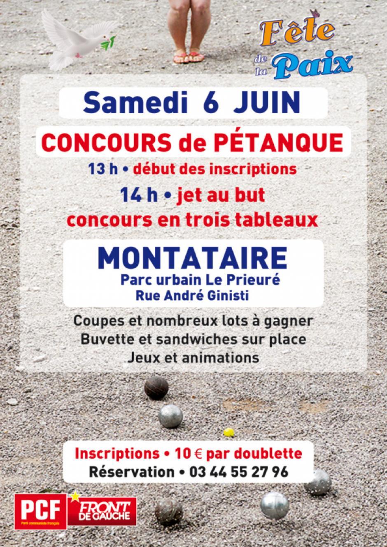 6 juin, Montataire - Concours de pétanque