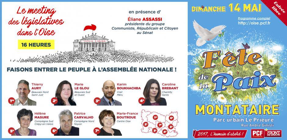 14 mai, Montataire - Meeting des législatives Oise