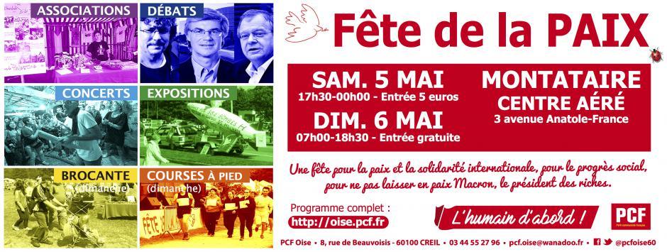 5 et 6 mai, Montataire - 14e Fête de la Paix
