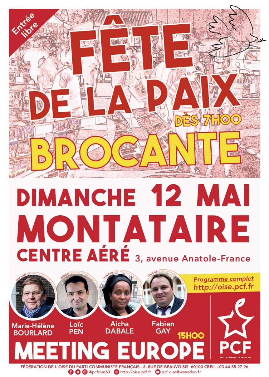 12 mai, Montataire - 15e édition de la Fête de la Paix