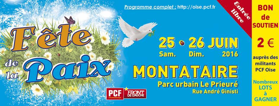 25 & 26 juin, Montataire - 12e Fête de la Paix