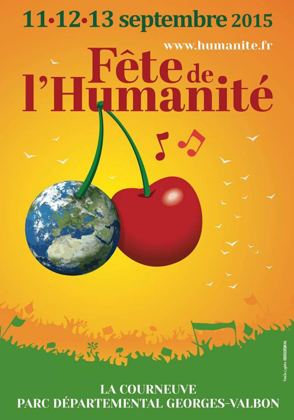 11, 12 & 13 septembre, La Courneuve - 80e Fête de l'Humanité