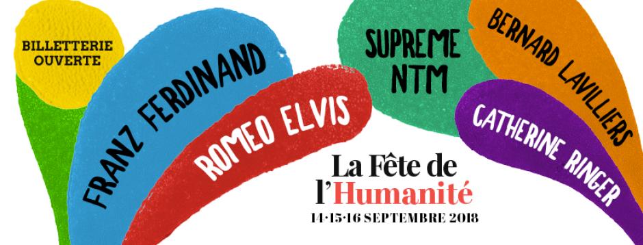 14 au 16 septembre 2018, La Courneuve - 83e Fête de l'Humanité