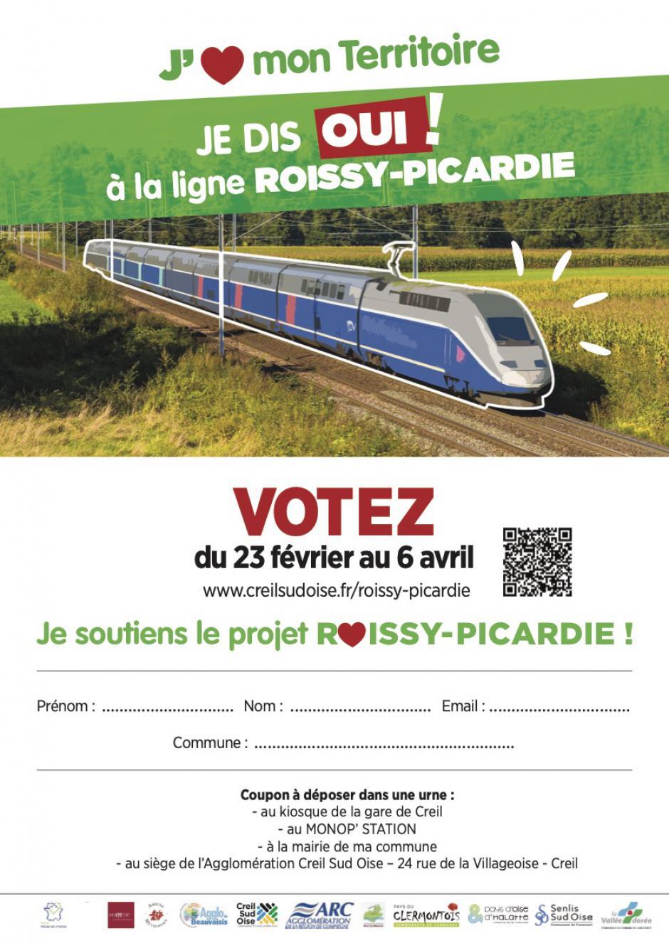 Coupon « Je dis OUI à la ligne Roissy-Picardie » - Février, mars & avril 2021