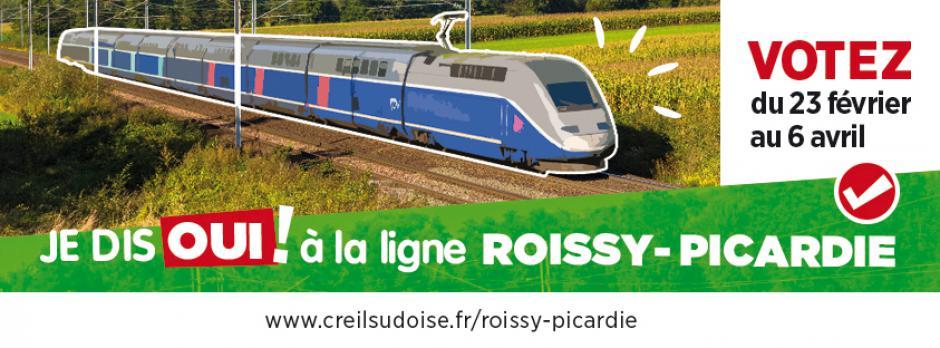 Je soutiens le projet de ligne ferroviaire Roissy-Picardie : je vote (du 23 février au 6 avril) !