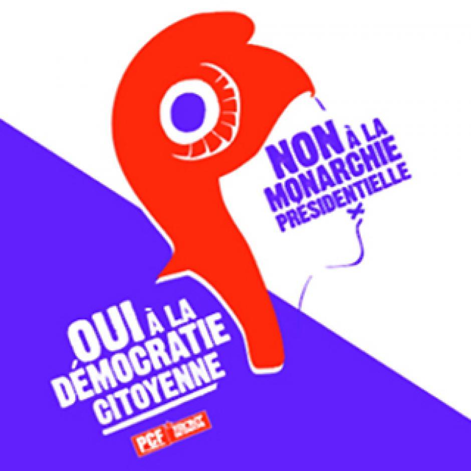 Pétition « Non à la monarchie présidentielle, oui à la démocratie citoyenne ! »