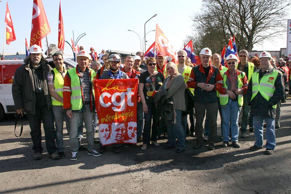 Manifestation européenne de 2 000 métallos - Florange, 22 mars 2012
