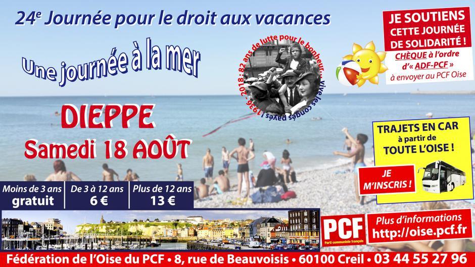 18 août, Dieppe - 24e Journée à la mer pour le droit aux vacances