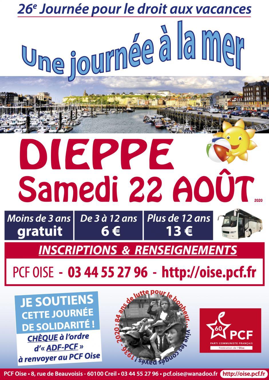 22 août, Dieppe - 26e Journée pour le droit aux vacances