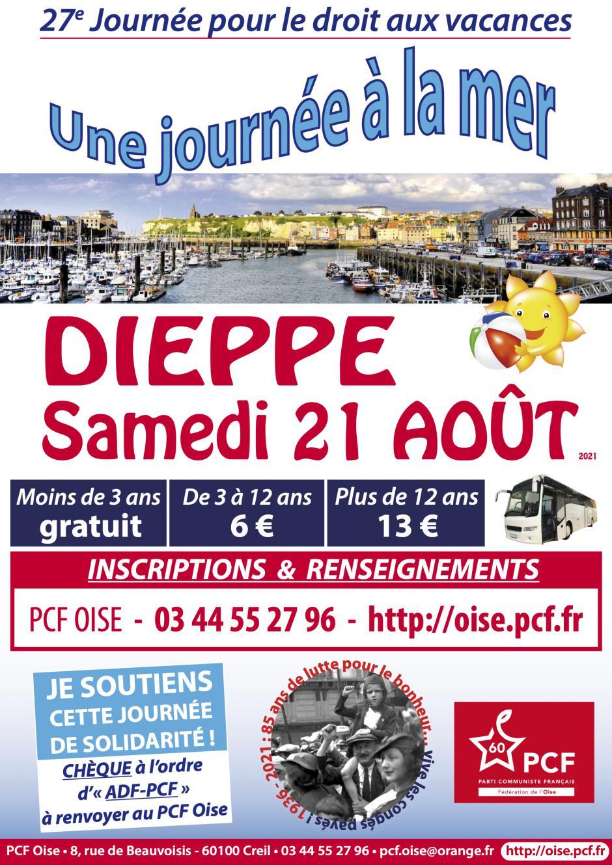 21 août, Dieppe - 27e Journée à la mer pour le droit aux vacances